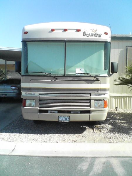 35 foot 7 inch, 97 Fleetwood Bounder- Ford 460 EFI vortec engine, banks power pack stage 111 for engine power & fuel economy, power gear hydraulic leveler system, onan rv genset, winegard RV antenna, panasonic TV, kwikee electric steps, I believe it is